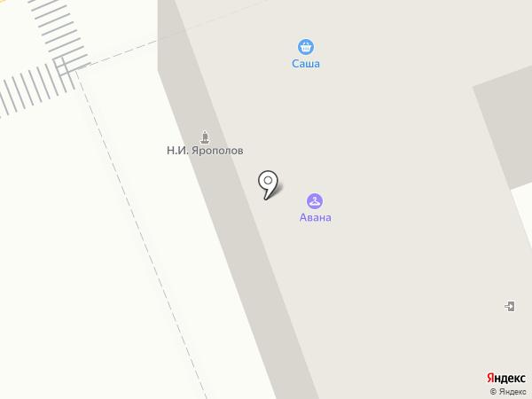 Авана на карте Ангарска
