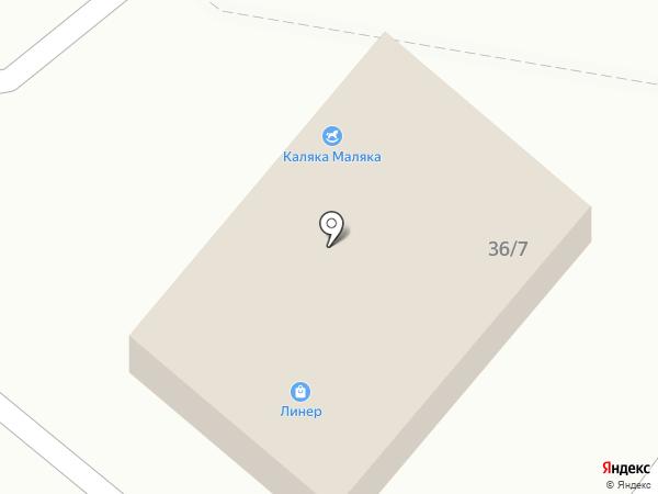 Линер на карте Шелехова