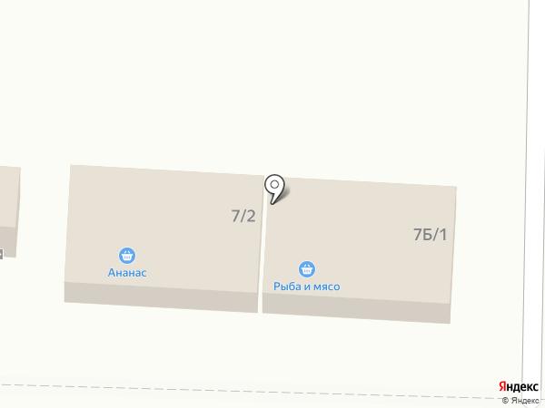 Магазин рыбы и мяса на карте Шелехова