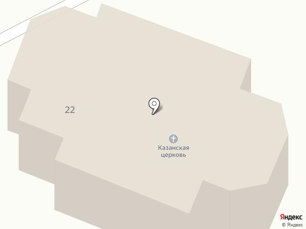 Церковь Казанской Божией Матери на карте Смоленщины
