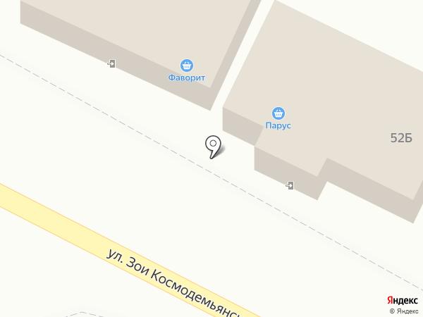 Парус на карте Смоленщины
