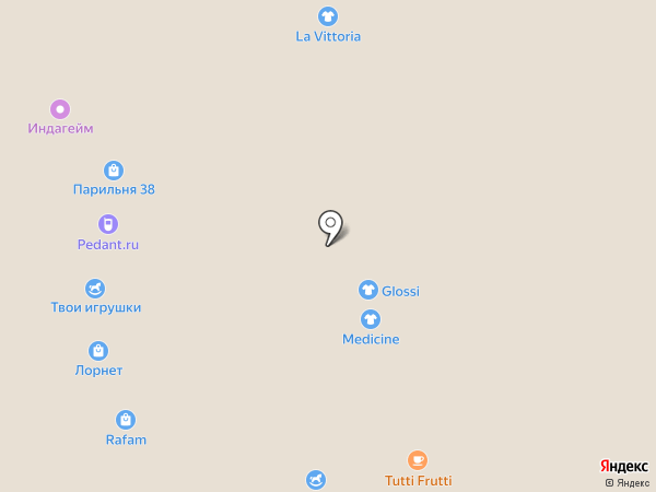 Glossi на карте Иркутска