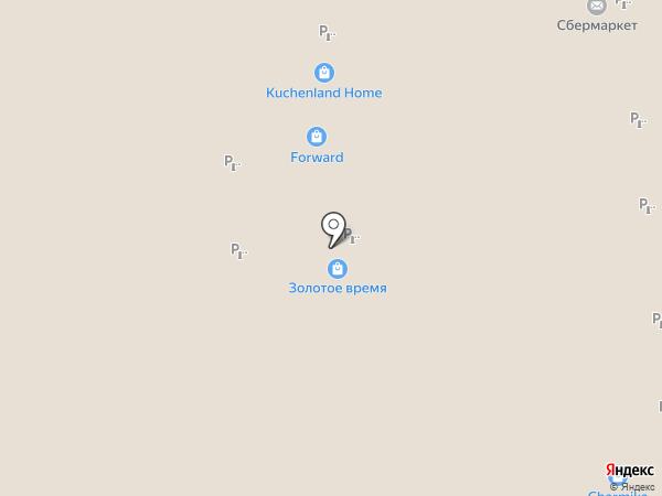 Золотое Время на карте Иркутска