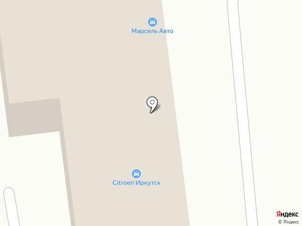 Пежо на карте Иркутска