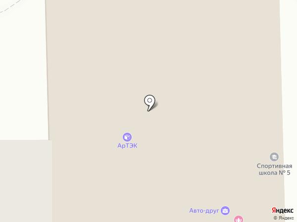 Зал спортивных единоборств на карте Иркутска