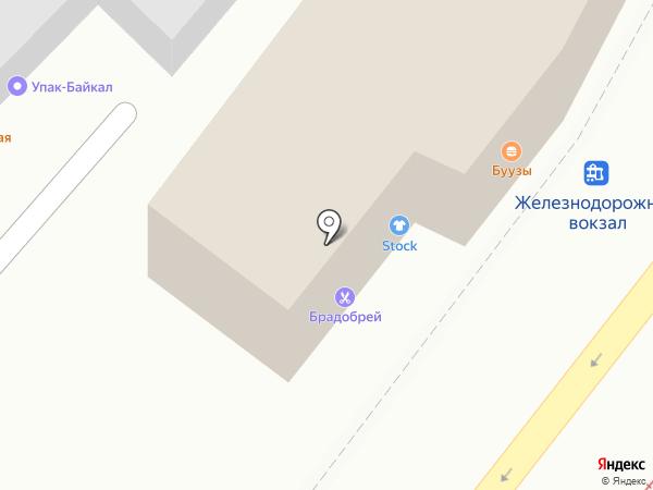 Stock на карте Иркутска