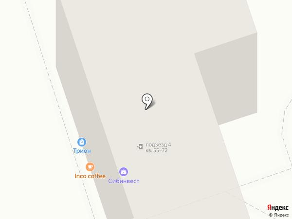 Под аркой на карте Иркутска