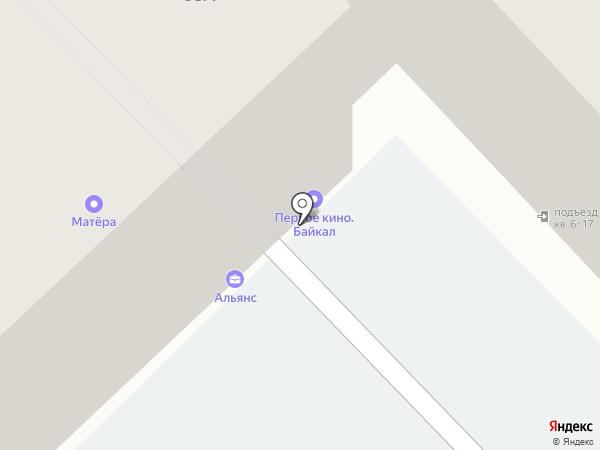 Матёра на карте Иркутска