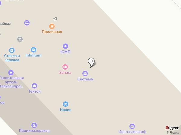 Стройка на карте Иркутска