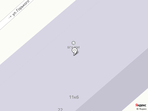 Байкальский государственный университет на карте Иркутска