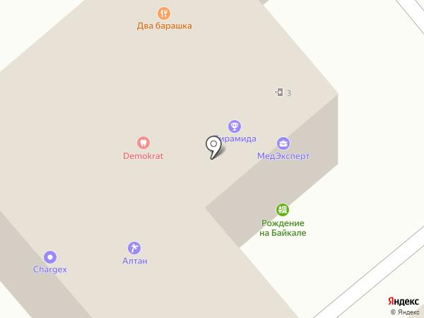 Сибентал на карте Иркутска