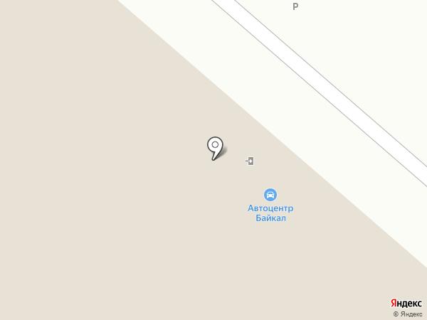 Автосервис Байкал на карте Иркутска