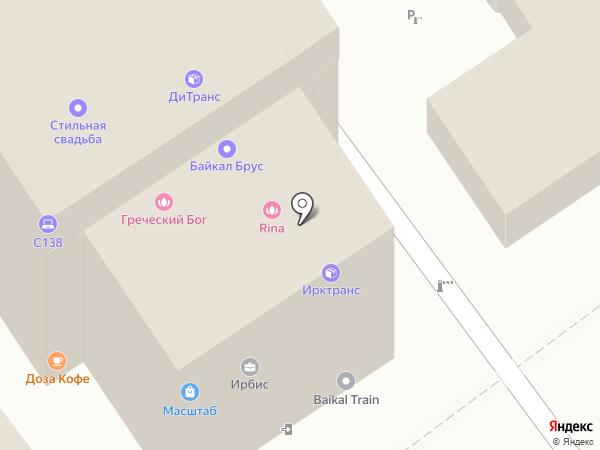 Бариновь на карте Иркутска