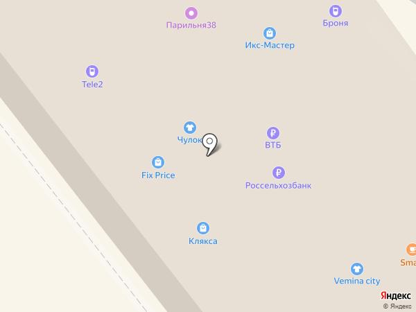 Гаджет на карте Иркутска