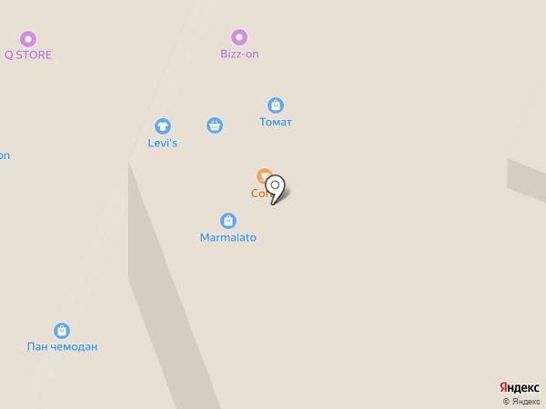 Алмаз на карте Иркутска