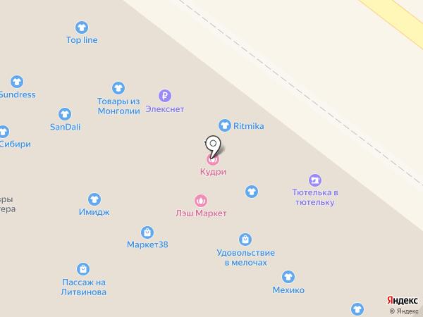 Магазин верхней женской одежды на карте Иркутска
