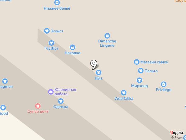 Магазин женской верхней одежды на карте Иркутска
