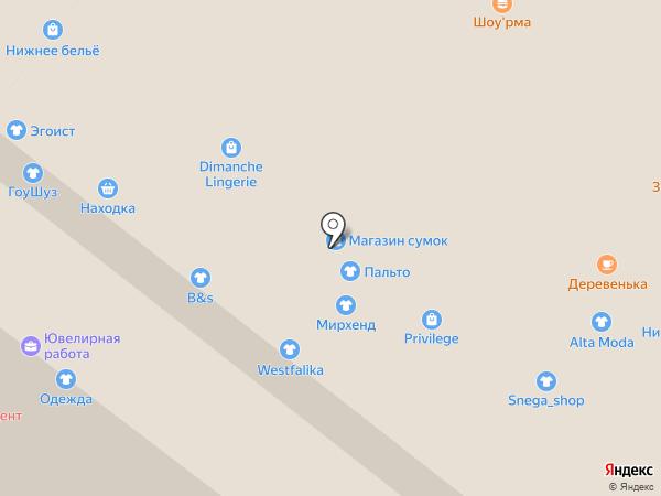 Магазин сумок на карте Иркутска