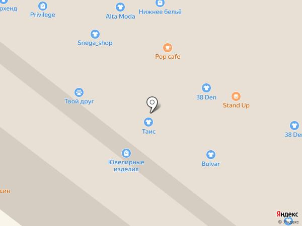 Магазин верхней одежды и головных уборов на карте Иркутска