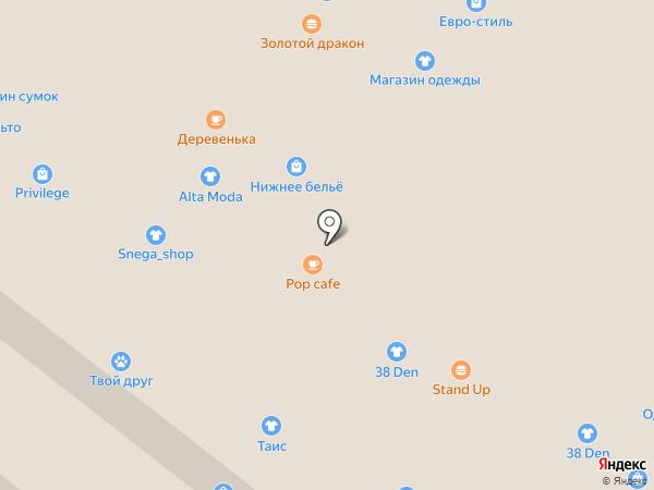 Магазин головных уборов на карте Иркутска