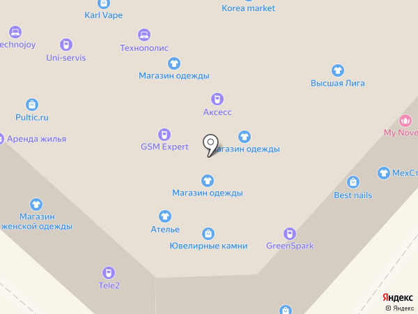 Оптово-розничная сеть на карте Иркутска
