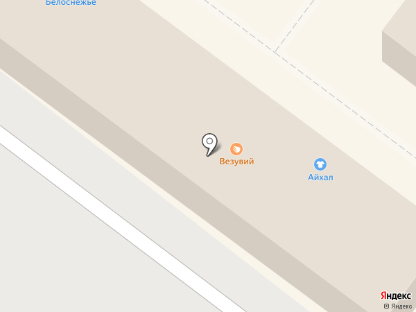 Белоснежье на карте Иркутска
