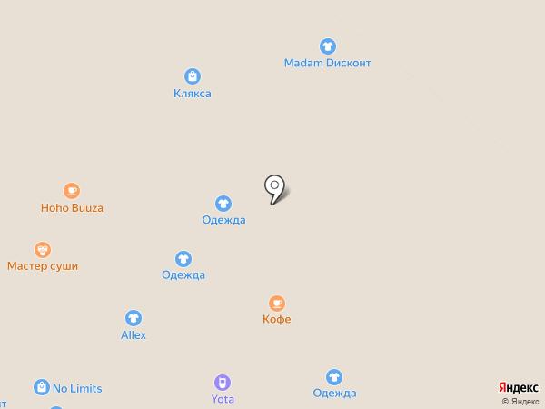 Магазин женской одежды и нижнего белья на карте Иркутска