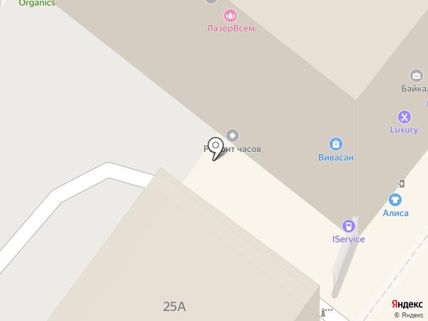 Вертера на карте Иркутска