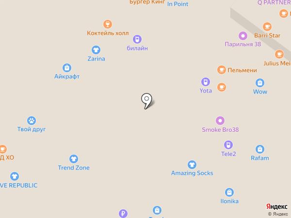 Магазин аксессуаров на карте Иркутска