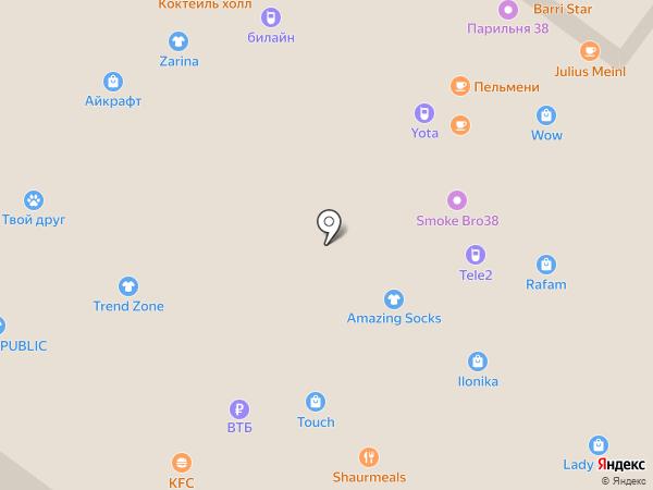 Злато на карте Иркутска