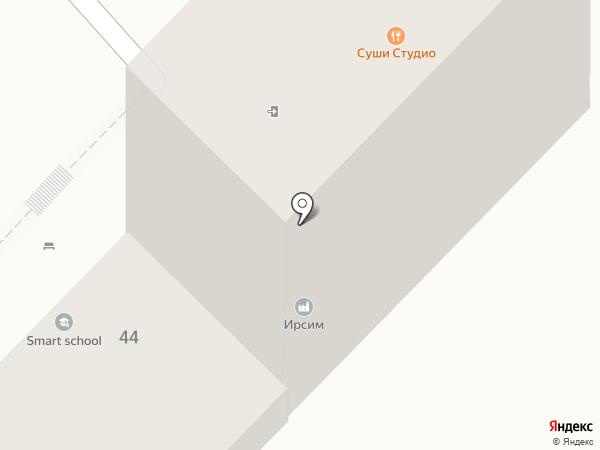 Карандаш на карте Иркутска