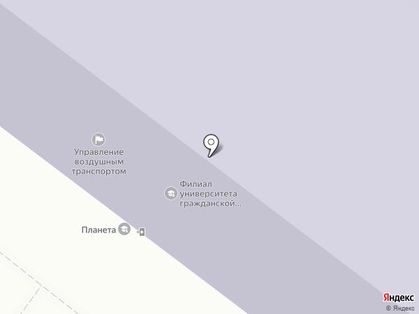 Планета на карте Иркутска