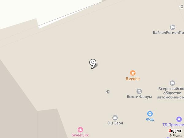 АнгараСтрой на карте Иркутска