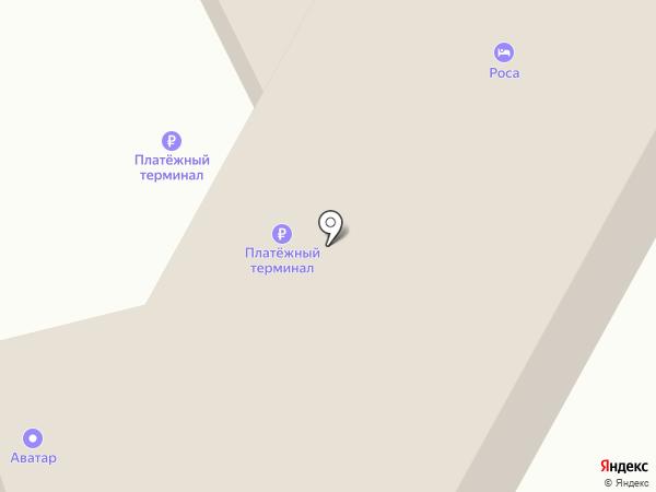 Роса на карте Иркутска