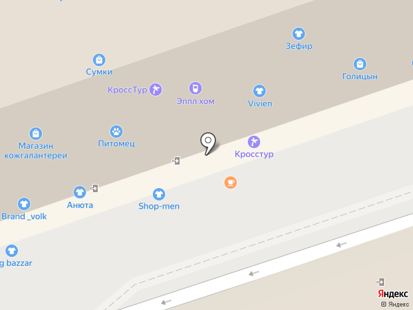 Лорнет на карте Иркутска