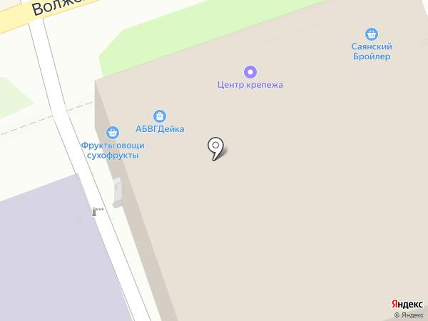 АБВГДейка на карте Иркутска