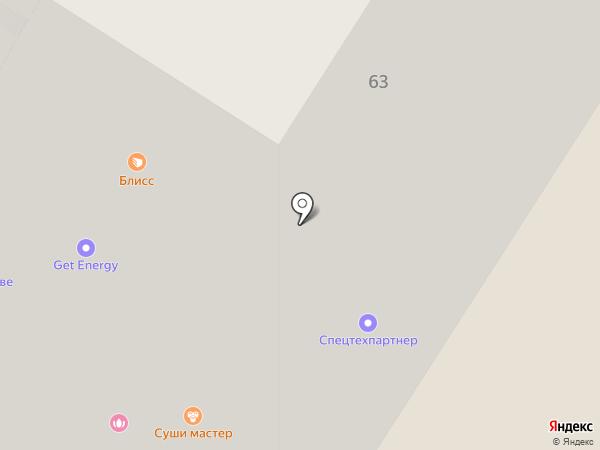Пенный на карте Иркутска