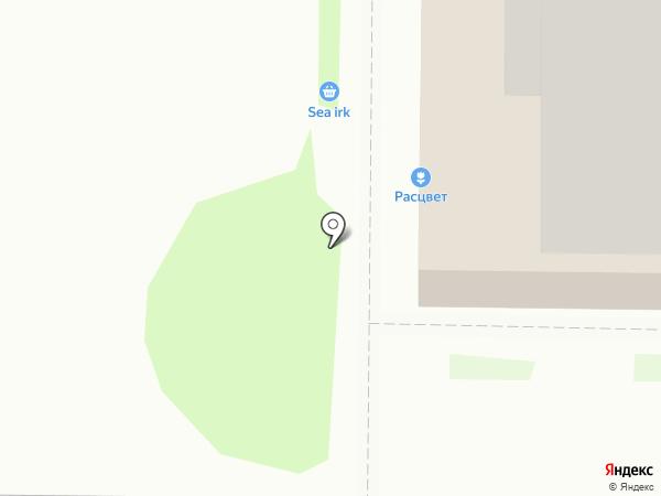 Визаж на карте Иркутска