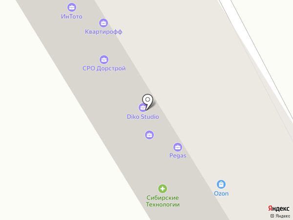 Интех на карте Иркутска
