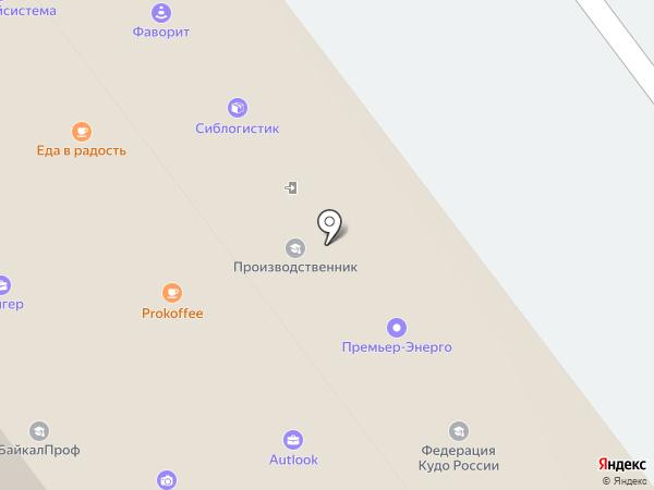 Autlook на карте Иркутска