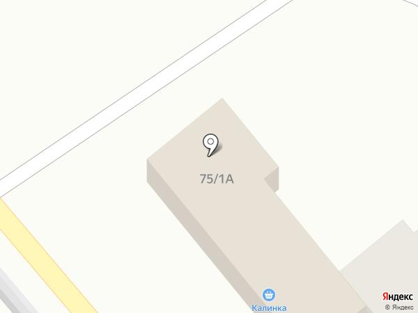 Калинка на карте Листвянки