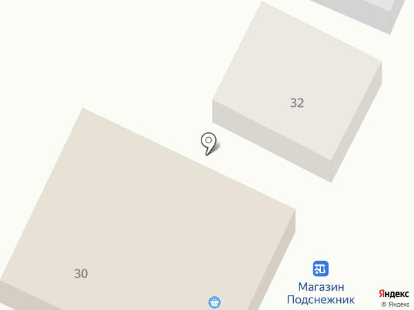 Подснежник на карте Нижнего Саянтуя