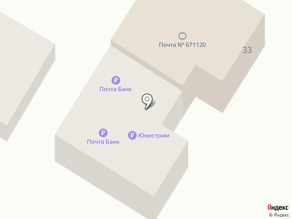 Узел связи на карте Нижнего Саянтуя