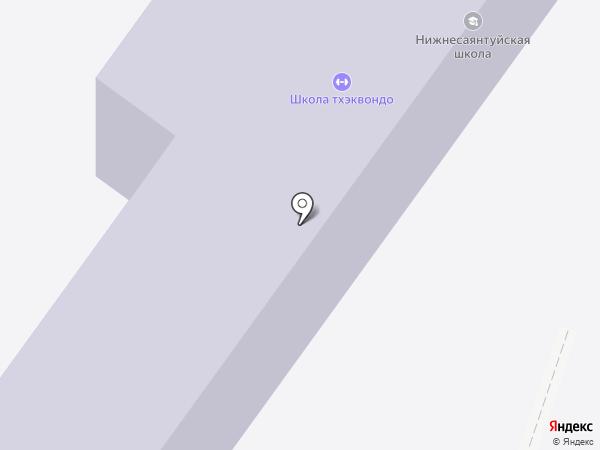 Нижнесаянтуйская средняя общеобразовательная школа на карте Нижнего Саянтуя