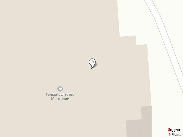Генеральное консульство Монголии в г. Улан-Удэ на карте Улан-Удэ
