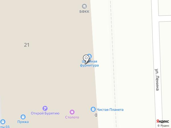 Магазин швейной фурнитуры на Ленина на карте Улан-Удэ