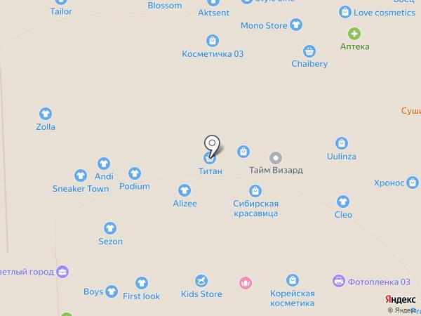 Золотое Время на карте Улан-Удэ