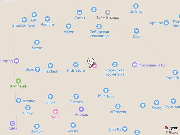 Ангара на карте Улан-Удэ