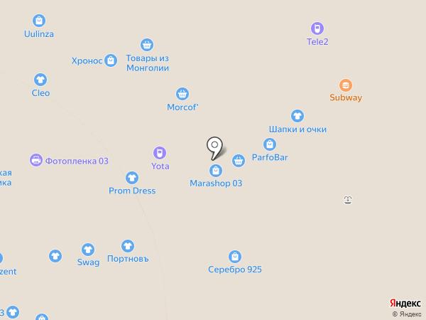 Бантик на карте Улан-Удэ