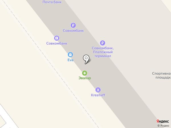 Эвалар на карте Улан-Удэ